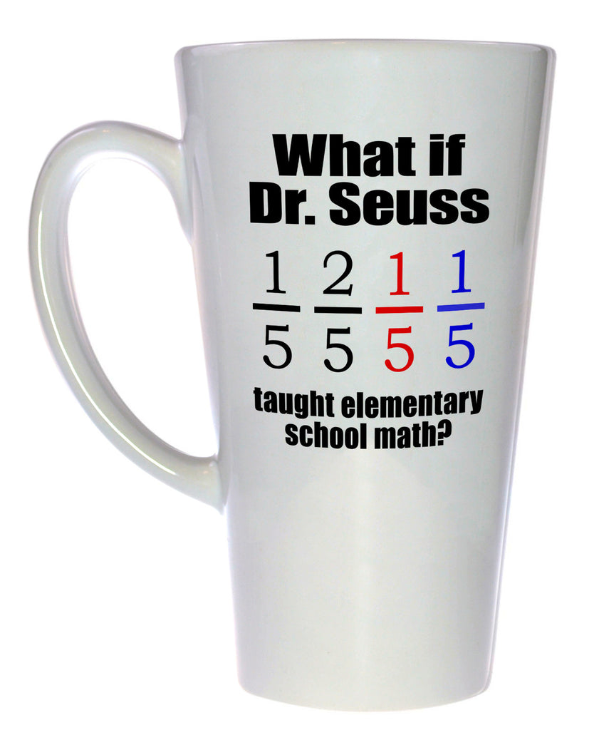 Dr Seuss as a Math Teacher Coffee or Tea mug, Latte Size