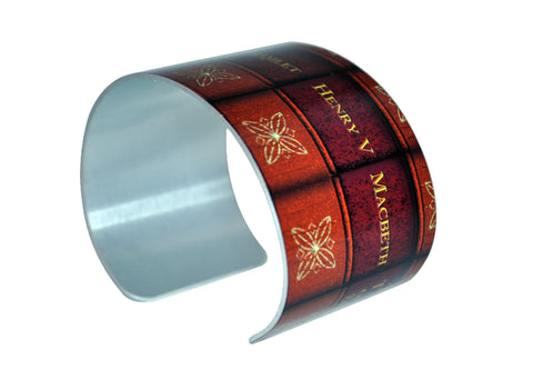 William Shakespeare Books Cuff Bracelet