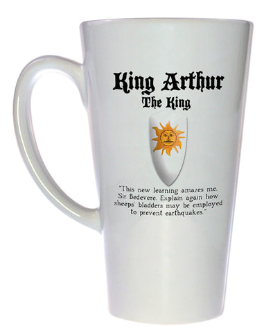 King Arthur Coffee or Tea Mug - Monty Python and the Holy Grail, Latte Size