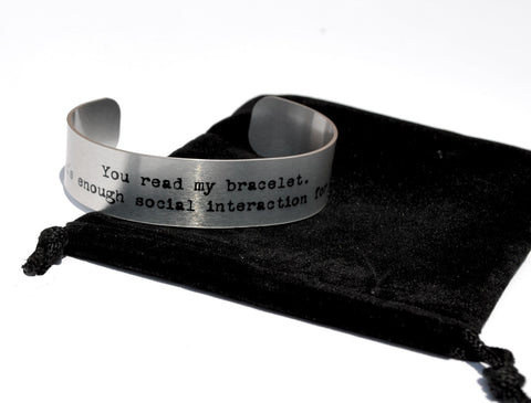 Social Interaction Aluminum Geekery Cuff Jewelry