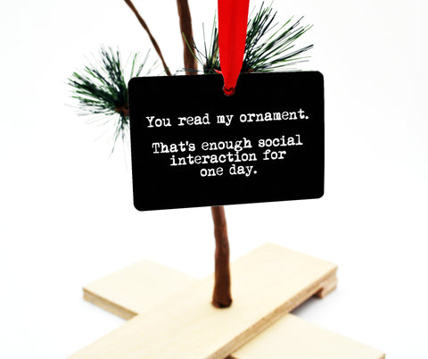 Social Interaction Fail Christmas Tree Ornament