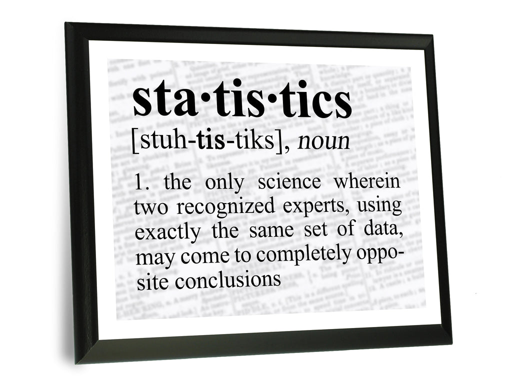 Statistics Definition Funny Typography Wall Plaque