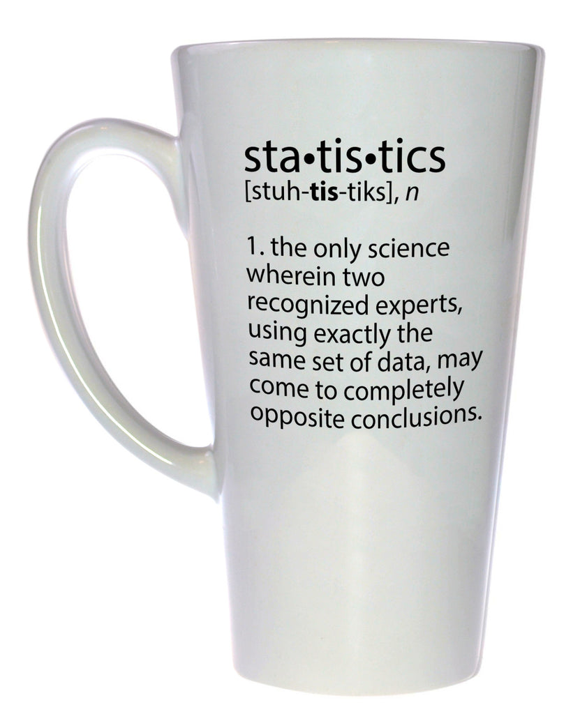 Statistics Definition Coffee or Tea Mug, Latte Size