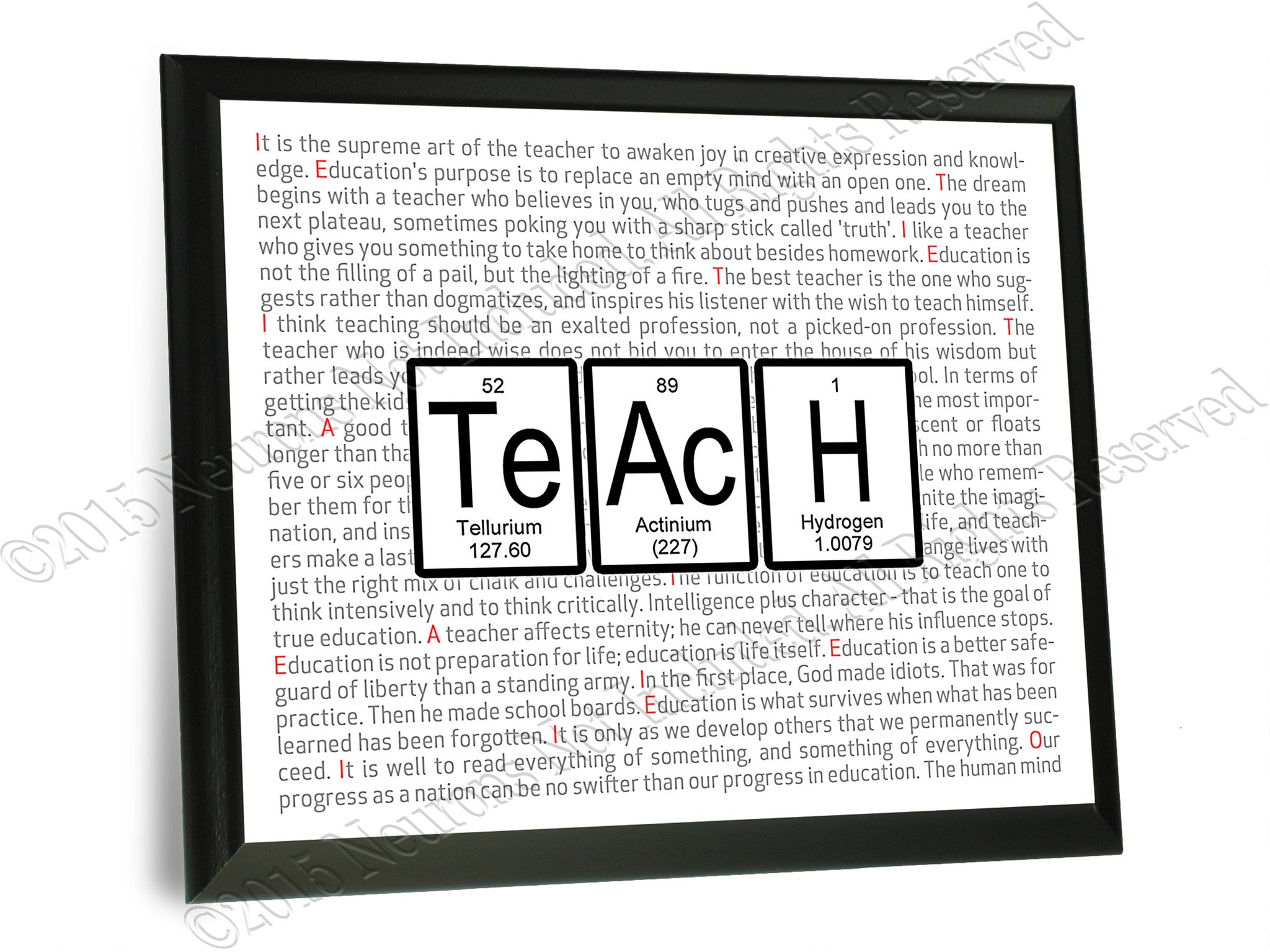 Teach periodic table of elements wall plaque 9x12 neurons not teach periodic table of elements typography wall plaque gamestrikefo Gallery