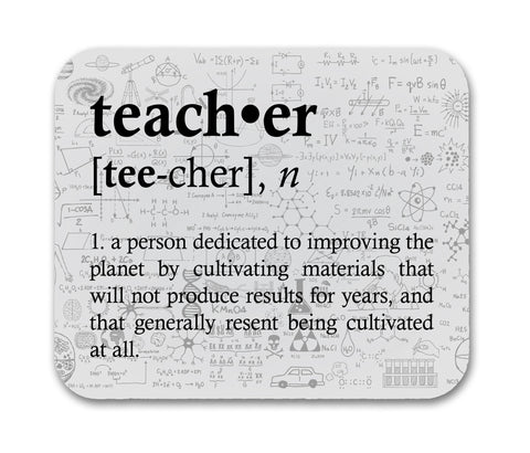 Teacher Definition Funny Quote Mouse Pad