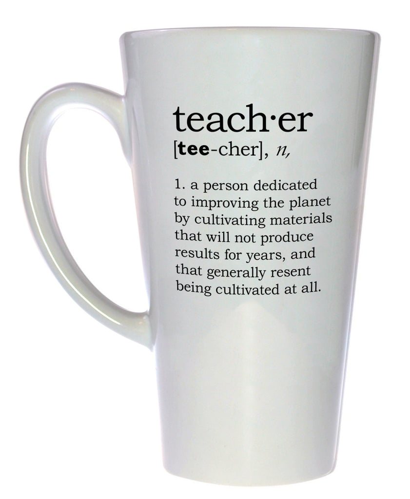 Teacher Definition Tall Coffee or Tea Mug - Latte Size
