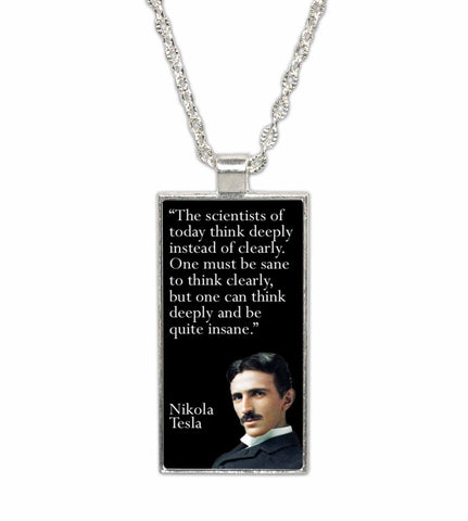 Nicola Tesla Famous Scientist Quote  Pendant Necklace