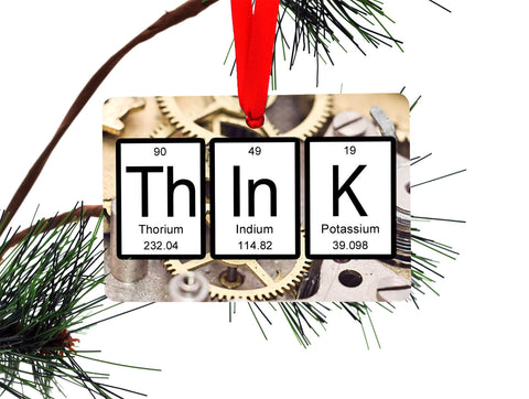 Think Periodic Table of Elements Ornament