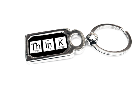 Think Periodic Table of Elements Metal Key Chain