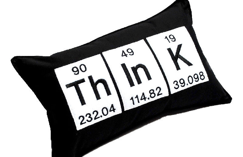 think periodic table pillow