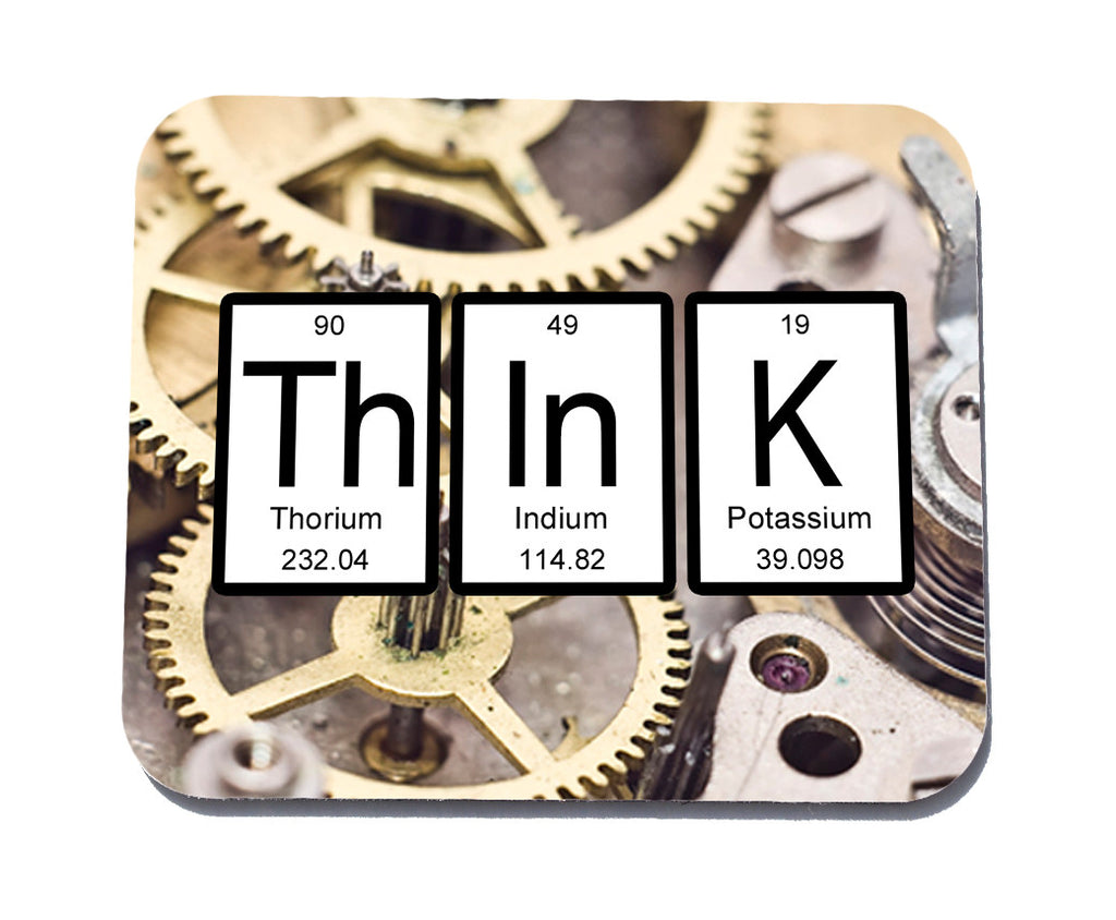 Think Periodic Table of Elements Mouse Pad