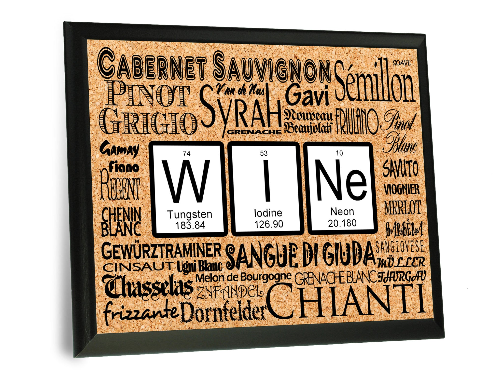 Wine periodic table of elements wall plaque 9x12 neurons not wine periodic table of elements typography wall plaque gamestrikefo Images