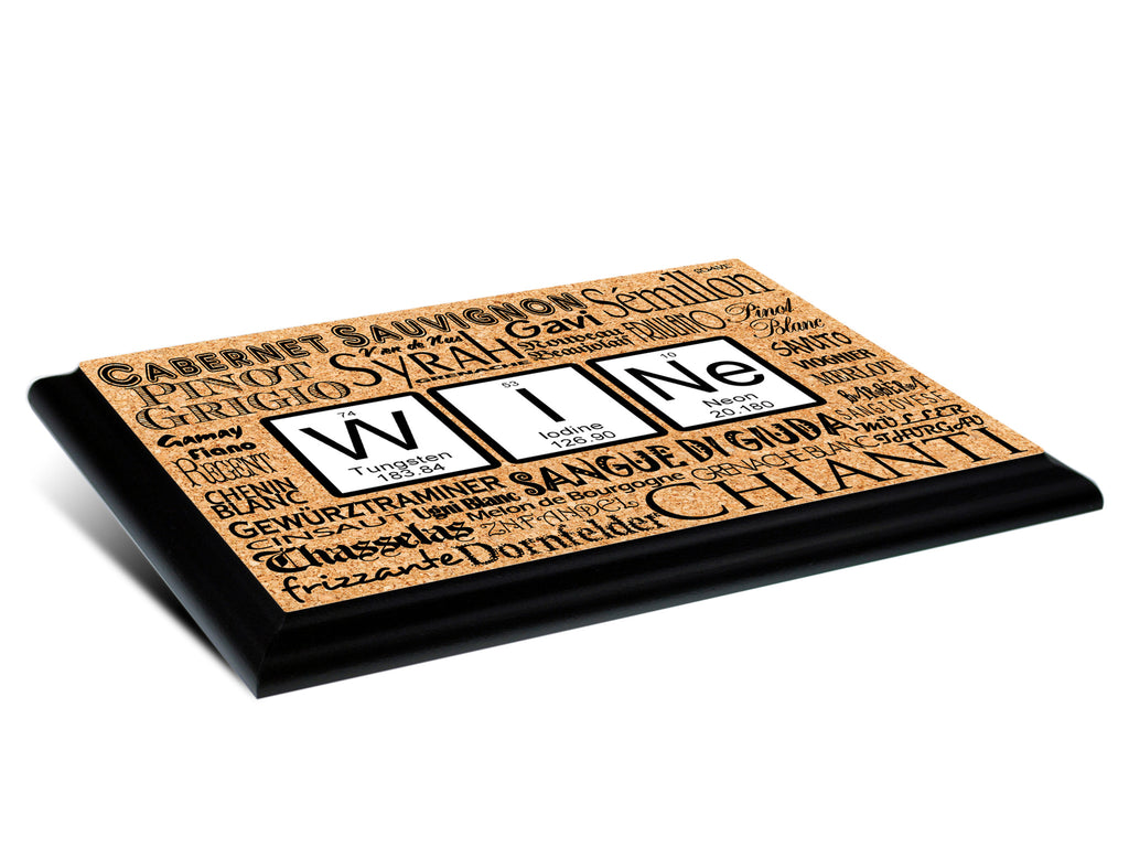 Wine Periodic Table Of Elements Wall Plaque 9x12 Neurons Not Included