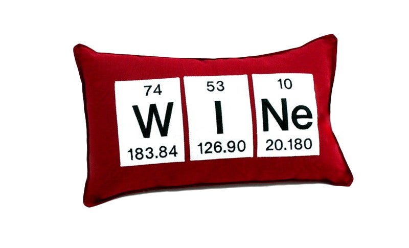Wine Periodic Table Of Elements Throw Pillow Neurons Not Included