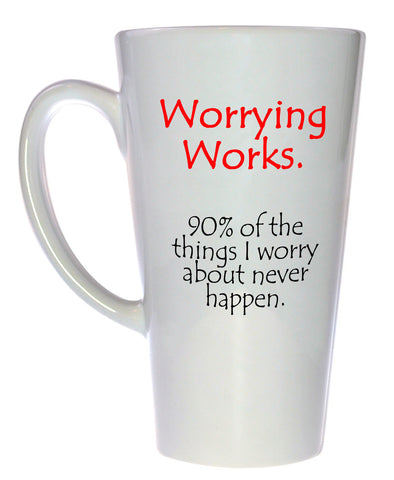 Worrying Works Coffee or Tea mug, Latte Size