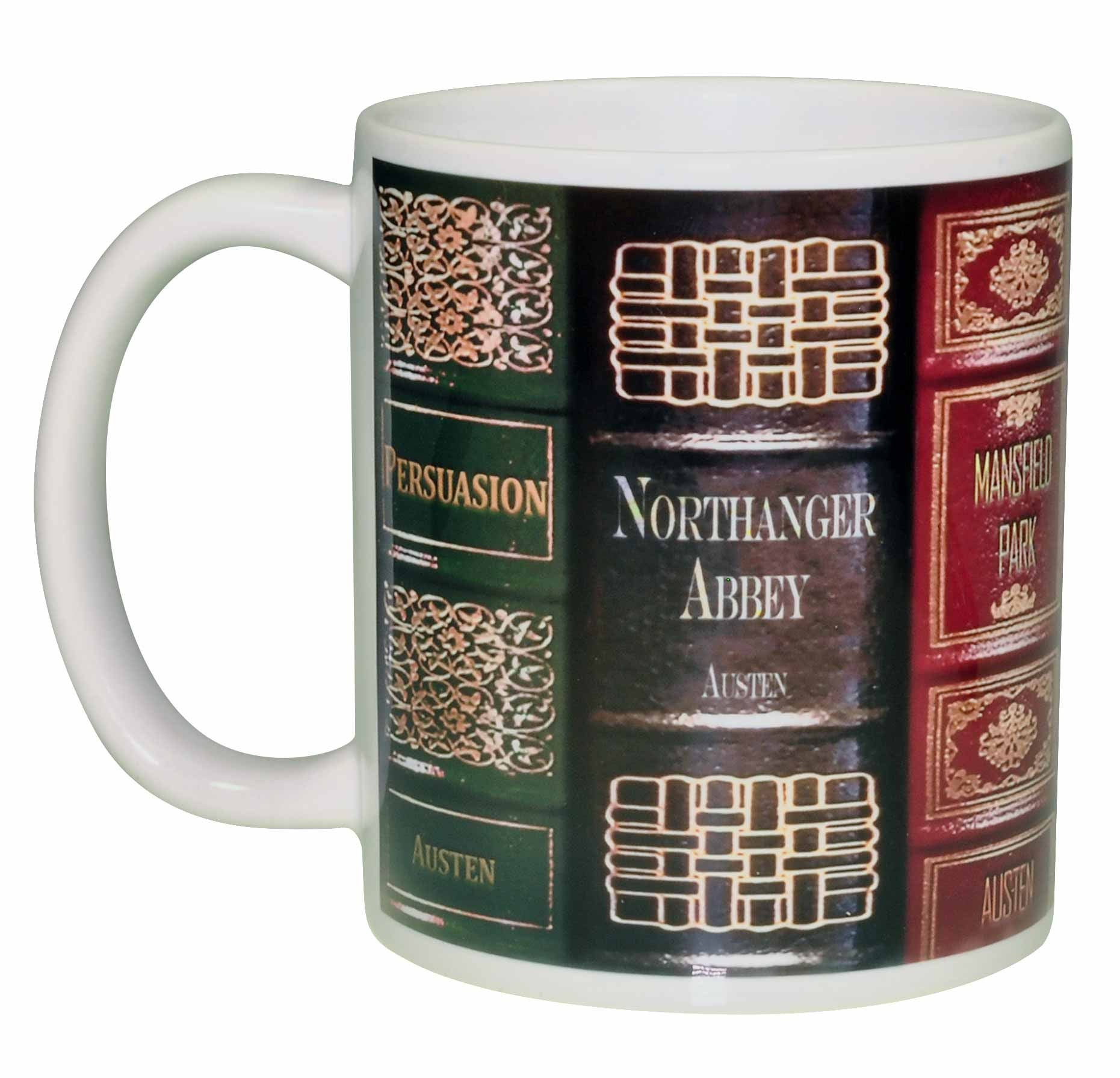 Jane Austen Novels Wraparound Coffee or Tea Mug – Neurons Not