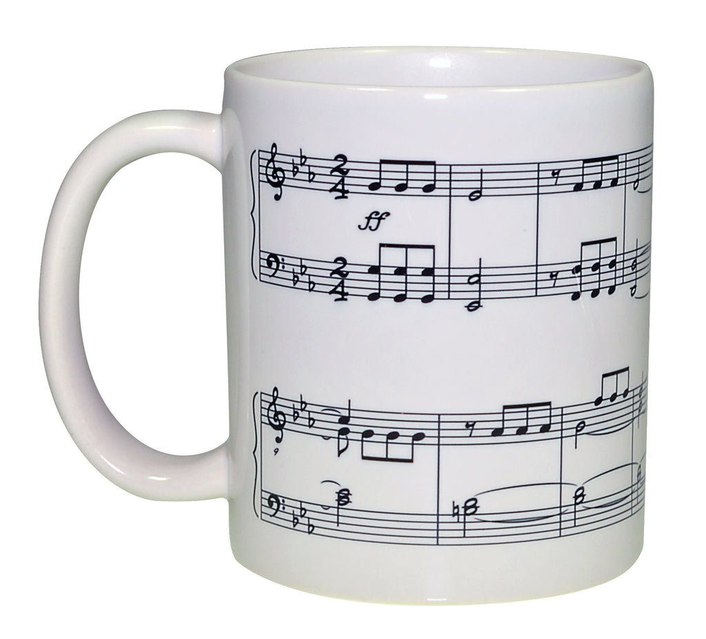Beethoven Symphony Number 5 Music Wraparound Coffee or Tea Mug