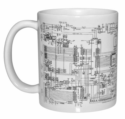 Circuit Diagram Wraparound Coffee or Tea Mug
