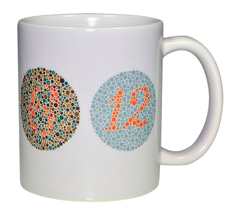 Color Blindness Test Wraparound Coffee or Tea Mug