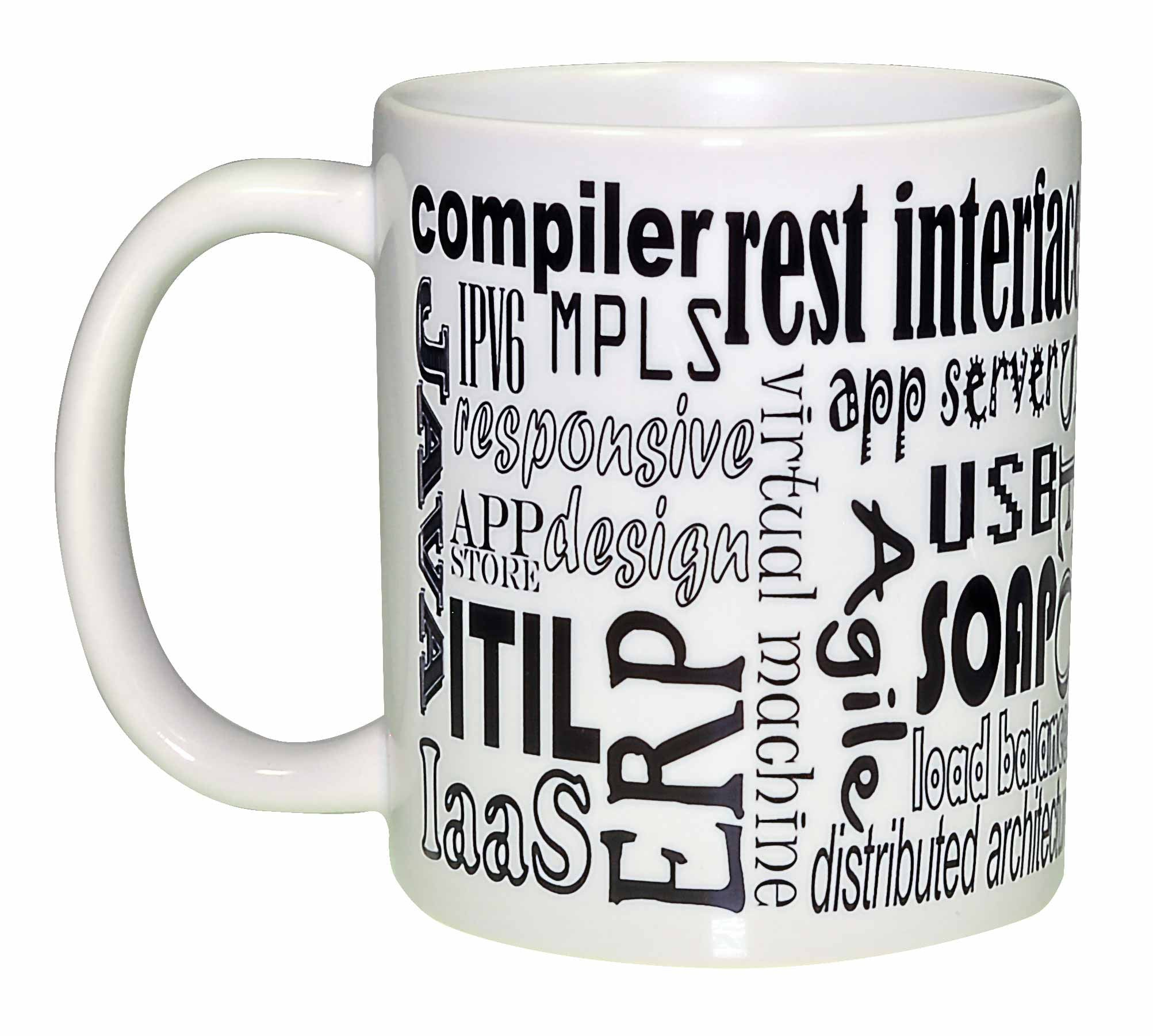 puter Programming Terms Wraparound Coffee or Tea Mug – Neurons