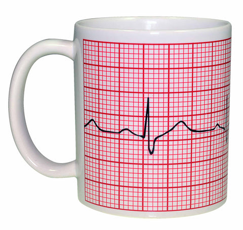 EKG Heart Monitor Tape Coffee or Tea Mug