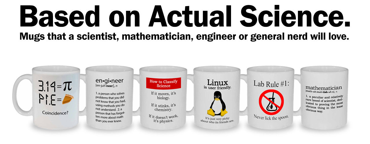 Mugs of exceptional geekiness