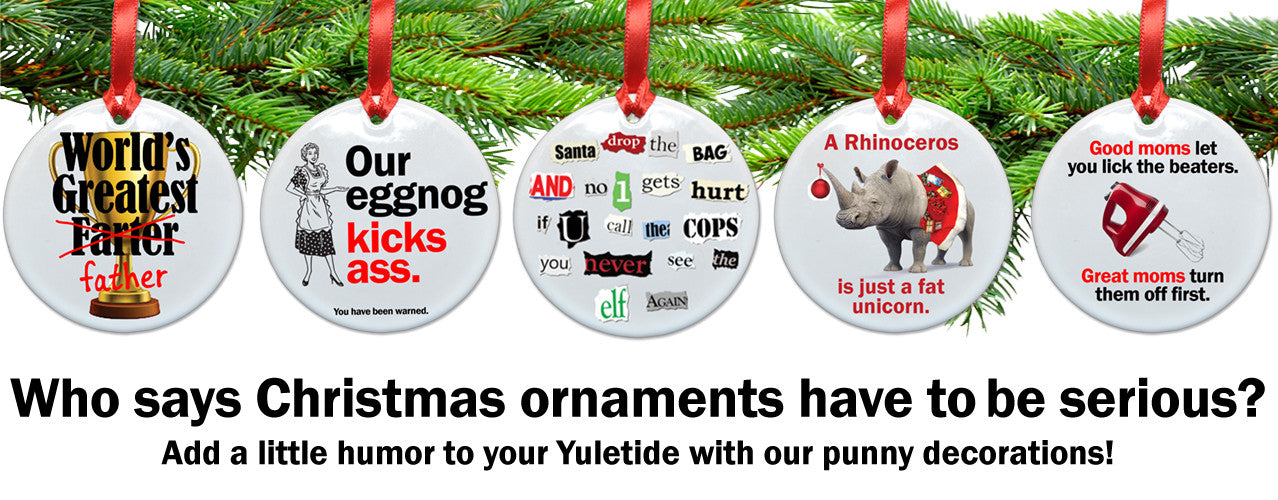 Punny ornaments