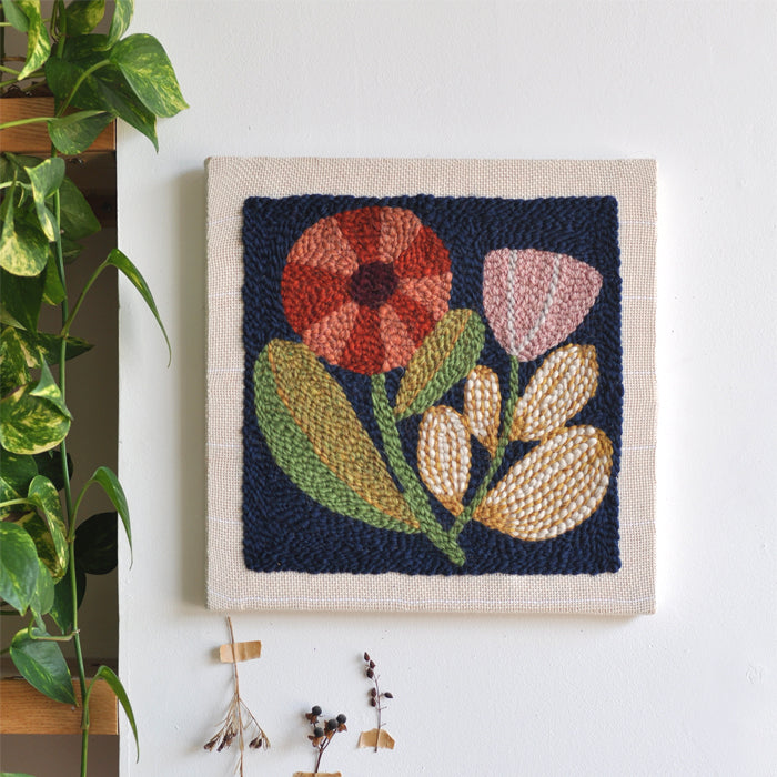 FLORAL NO. 1 PUNCH NEEDLE + EMBROIDERY pattern
