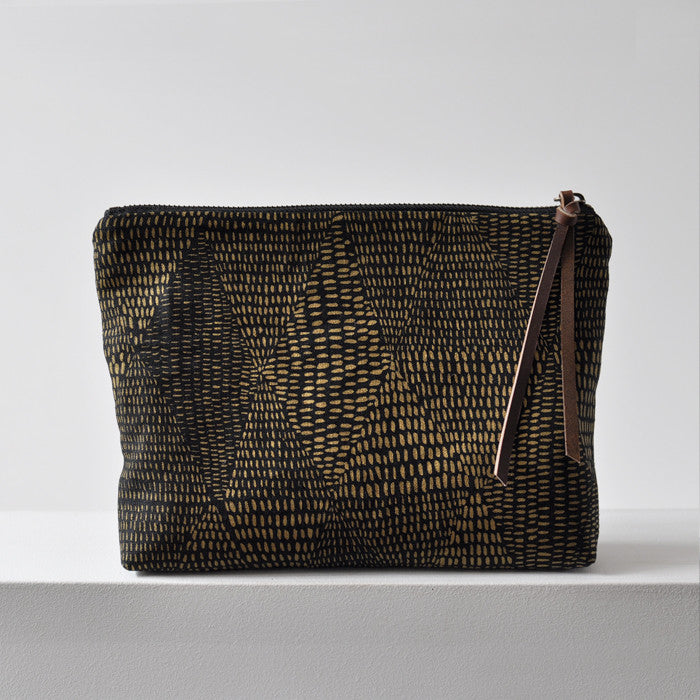 LARGE  POUCH - gold VELD