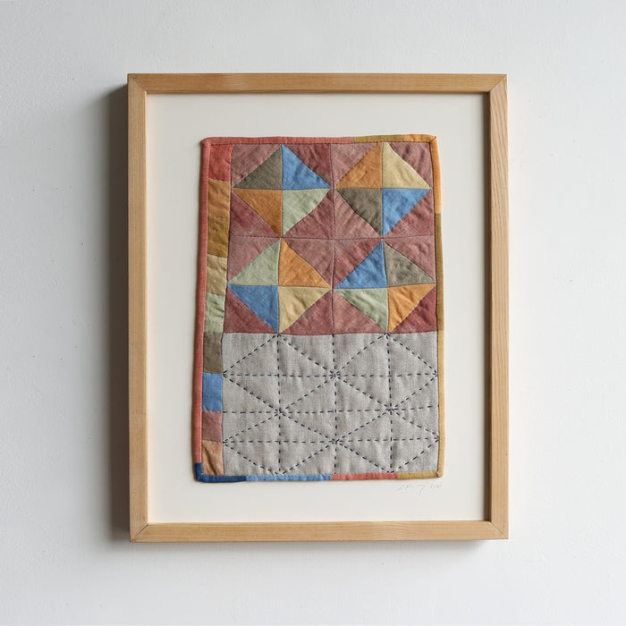 MINI QUILT WITH SASHIKO