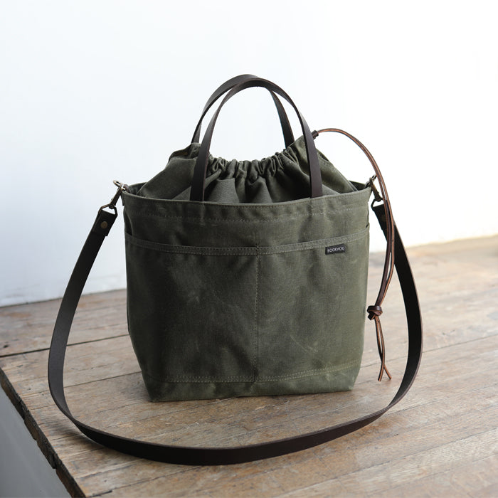 PROJECT TOTE - olive green w/exterior pocket