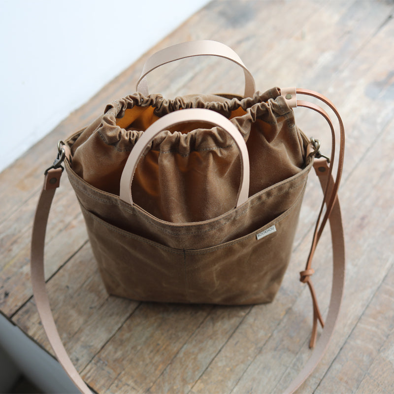 PROJECT TOTE - rust waxed canvas