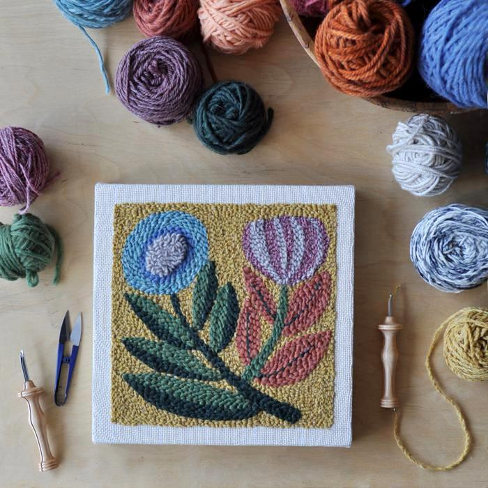 FLORAL NO. 2 PUNCH NEEDLE + EMBROIDERY pattern
