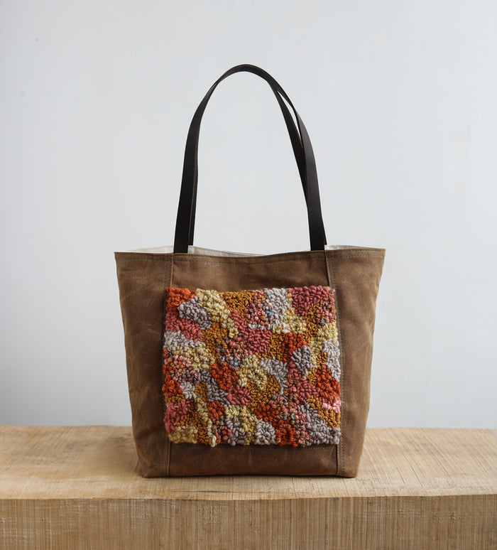 TOTE - abstract rug hooking