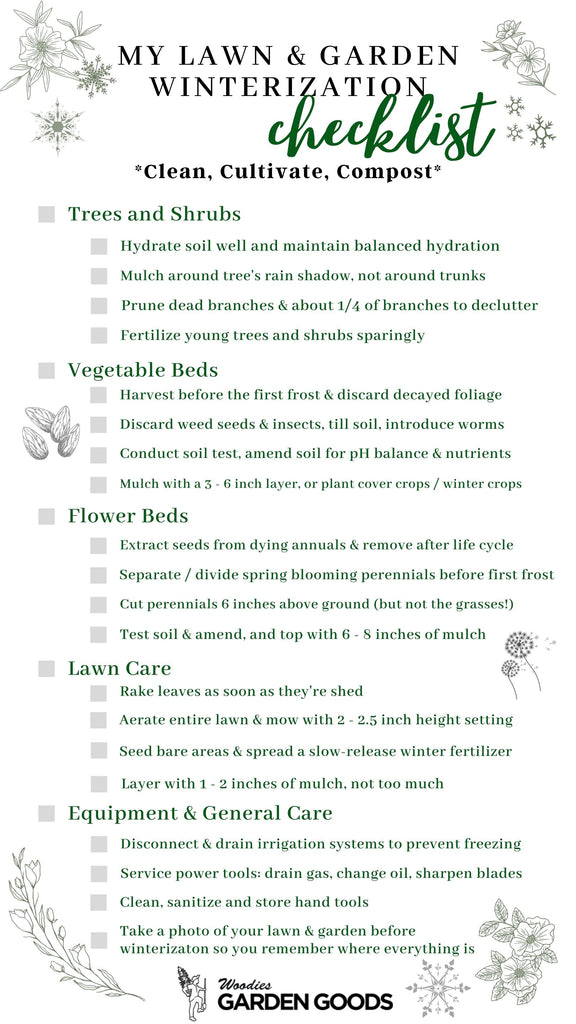 the perfect free pdf downloadable checklist for winterization from garden goods direct