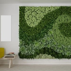 vertical wall made of plants