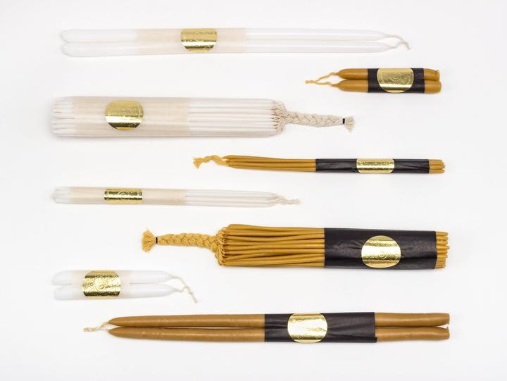"18"" Beeswax Tapers"