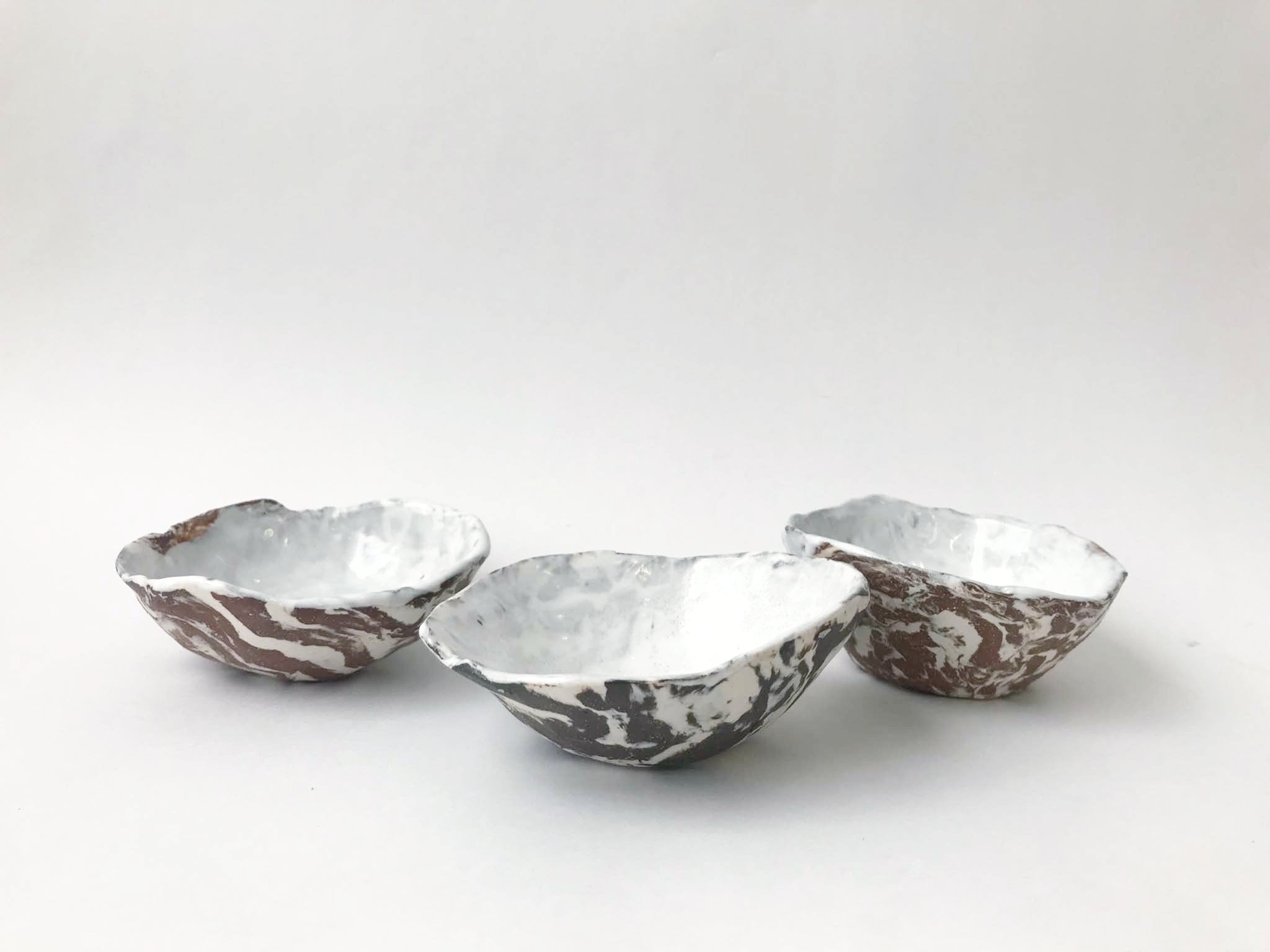 Pinched Marble Bowls