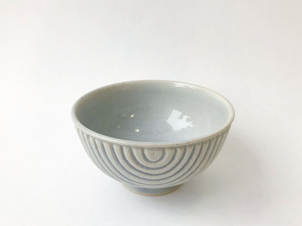 Bowl with Fluted Stripes