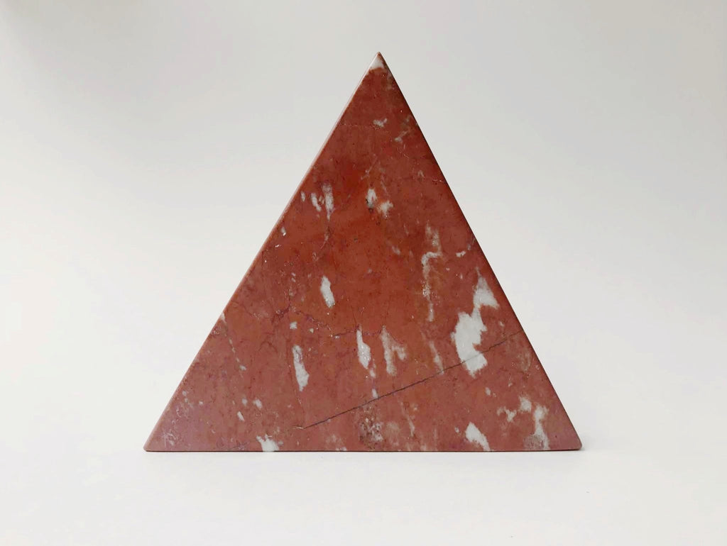 Red Marble Triangle Trivet