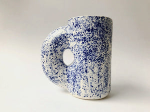 Blue and White Speckle Chub Mug
