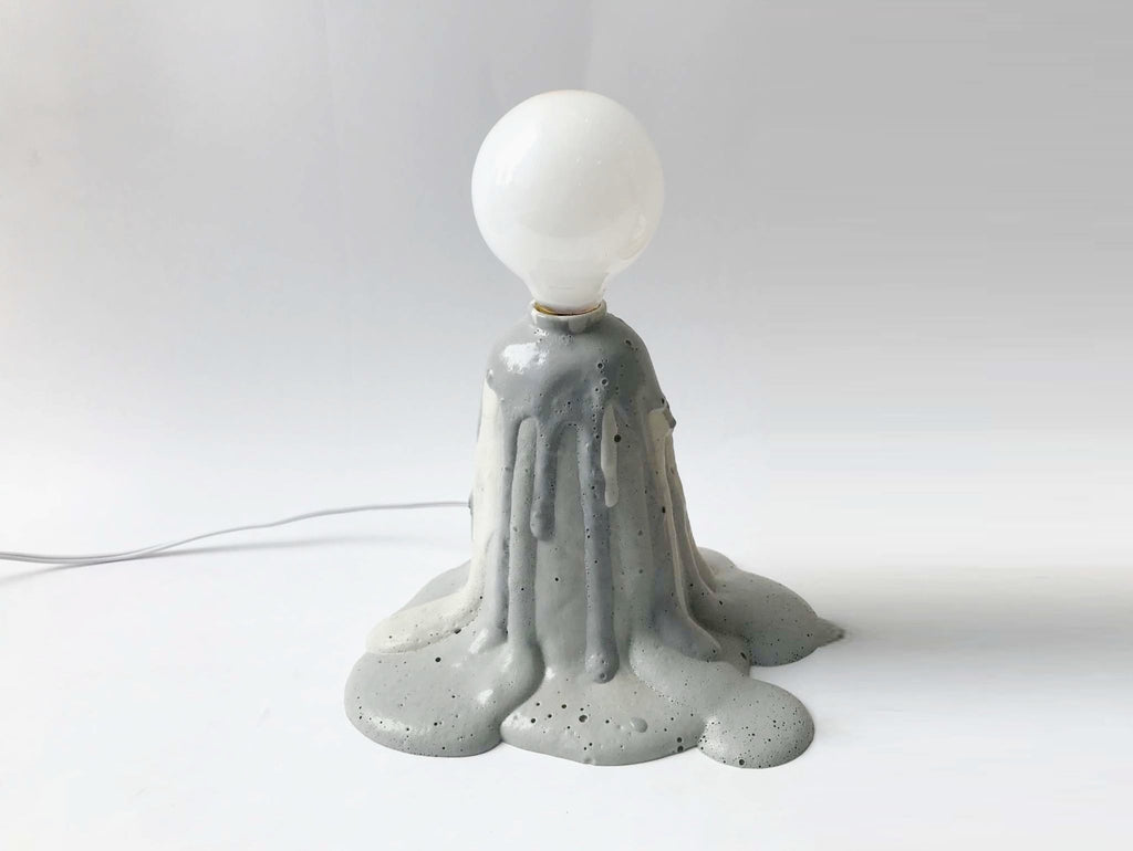 Grey Foam Lamp