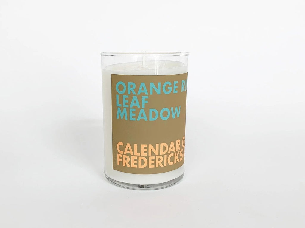 Scented Candle: Orange Rind, Leaf, Meadow
