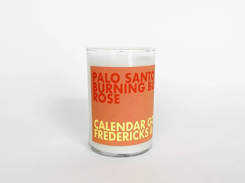 Scented Candle: Palo Santo, Burning Bush, Rose