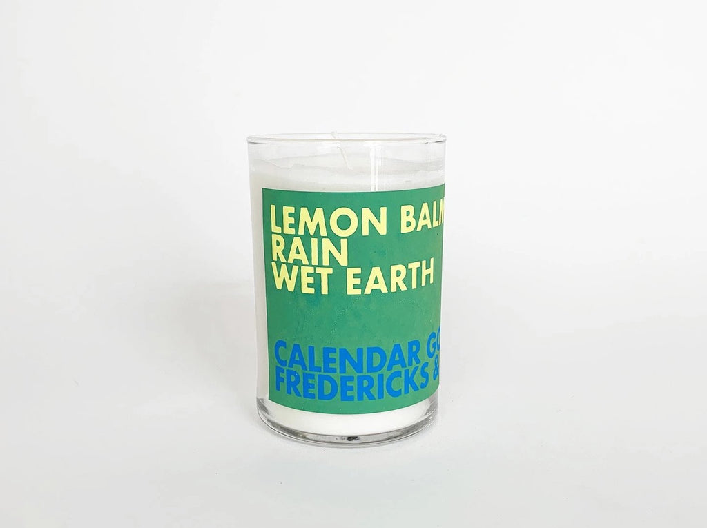 Scented Candle: Lemon Balm, Rain, Wet Earth