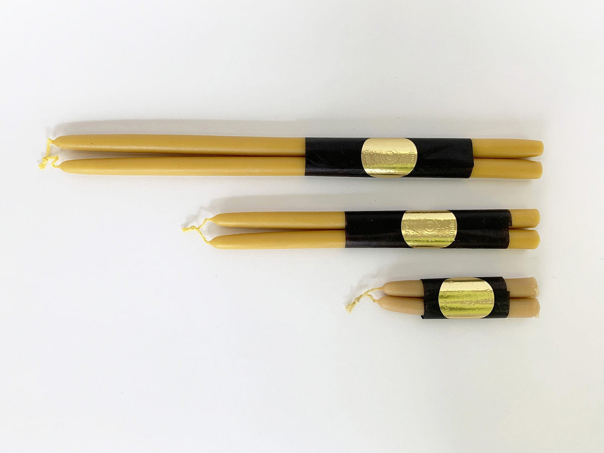 "12"" Beeswax Tapers"