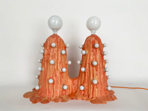 Siamese Orange Foam Lamp