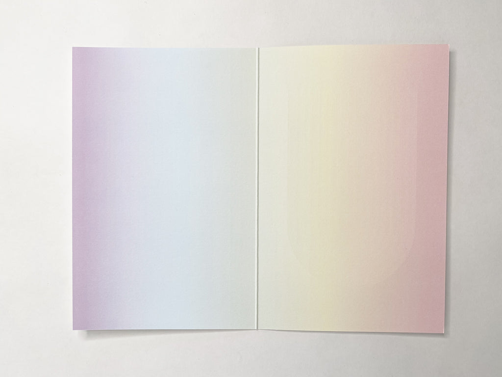 Rainbow Colorfield Notecard