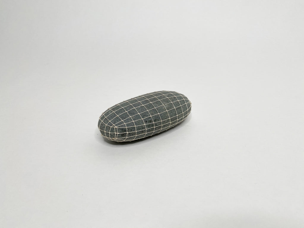 Gray Gridded Oval
