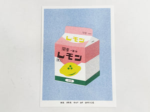 Lemon Milk Risograph